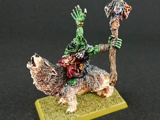 Gamezone Goblin Witchdoctor on Wolf