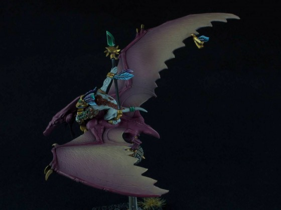 Xokha Skink Captain on Pteradon