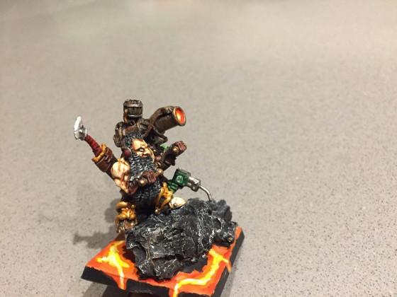 Flamethrower gunnery team