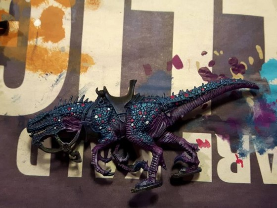 Raptor - drybrush and highlight