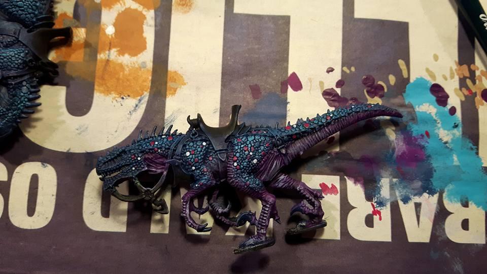 Raptor - drybrush and highlight