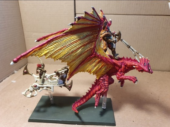 Highborn Elves Dragon chariot (lion/skycutter)