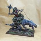 Saurian Warlord on Carnosaur Alpha
