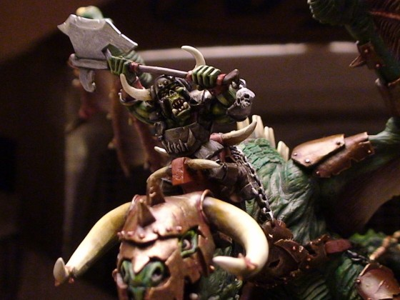 Buggrom of Ulmo, Orc Warlord with Great Weapon on Wyvern
