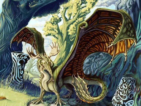 Sylvan Dragon by owlbarrel