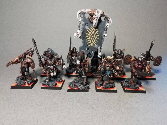 Barbarians with spears
