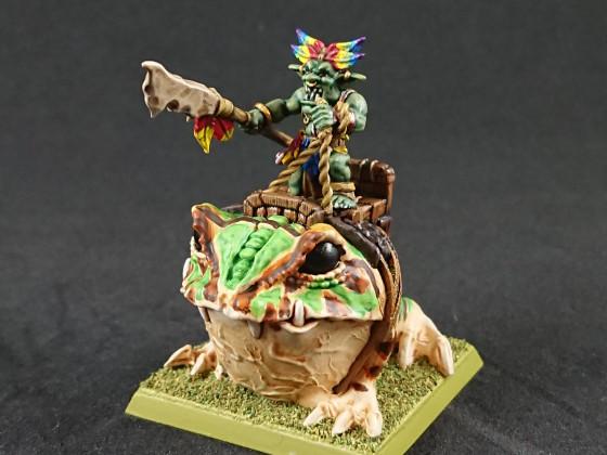 "Shieldwolf Miniatures - Goblin Chief on ""Cave Gnasher"""
