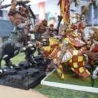 Dragon Centaurs charged by Grail Knights