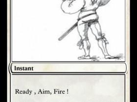 Order Card - Ready, Aim, Fire !