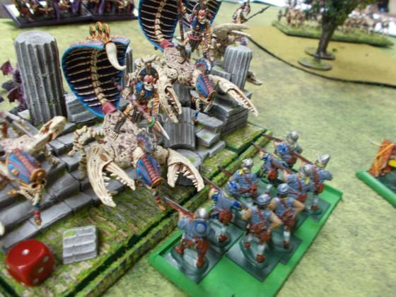Empire Handgunners vs. Tomb Cataphracts