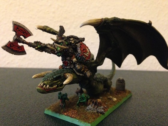 Orc King on Wyvern