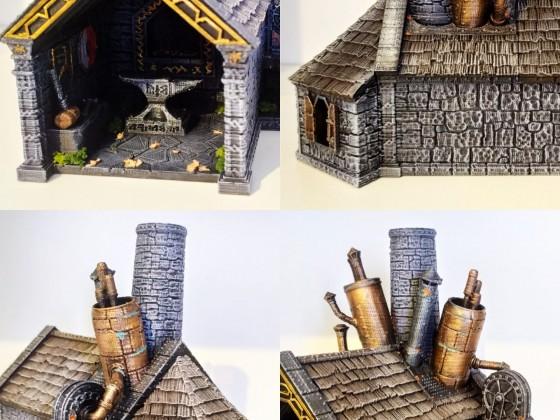 Dwarf smithy (3d printed)