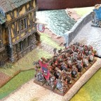 Dwarves on campaign, marching through the lands of the 9th Age