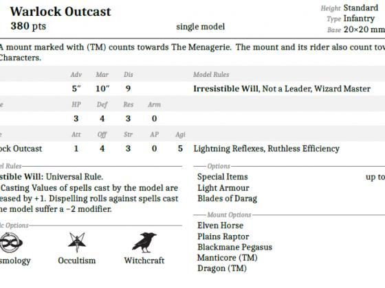 Warlock Outcast