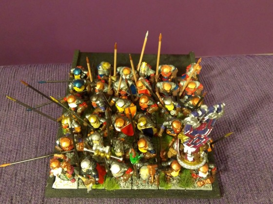 Speardwarves with Characters - top view