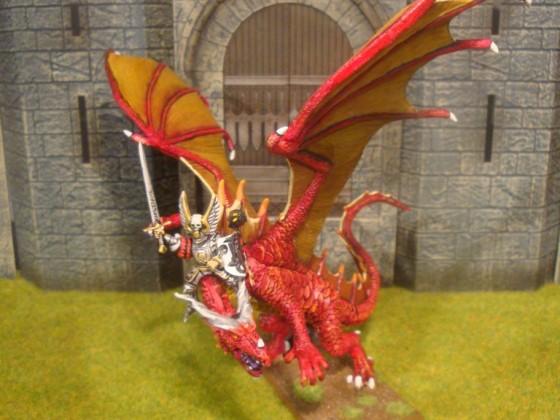 Reaper Cinder & Games Workshop field Marshal on dragon