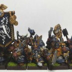 Dwarf Warriors - Full command group and great weapons + shields