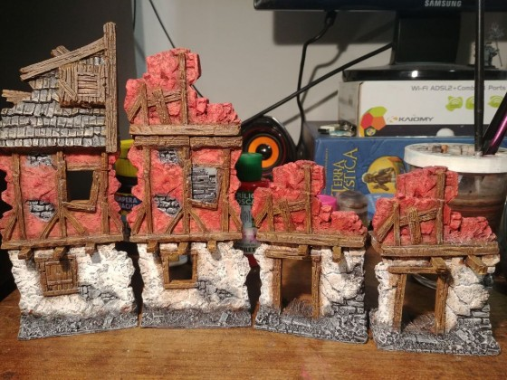 Near finished set, forgot some stairs + a buttress