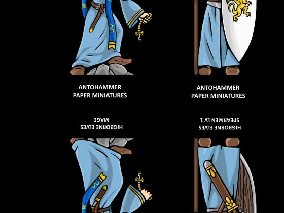 higborne elves paper miniatures 01