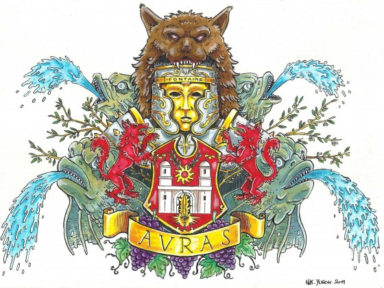 Avras coat of arms - king Fontaine