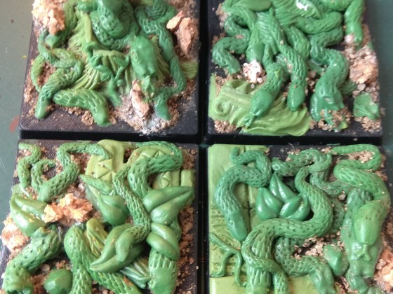 custom sculpted Snake Swarms