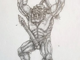 Feral Orc With Spear