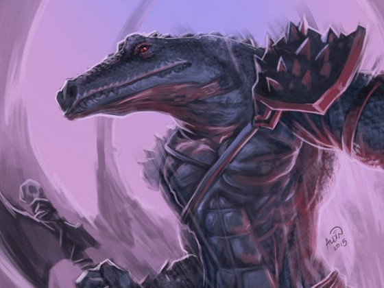 Saurian Warrior by Aldin