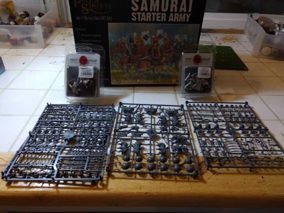 Start of a samurai themed army