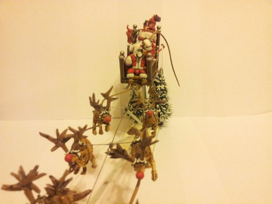 Da Santaz on sled (orc warlord on wyvern)