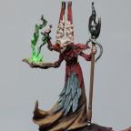 Sorcerer on scythed skywheel