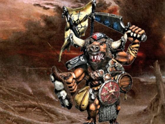 Minotaur Warlord charging