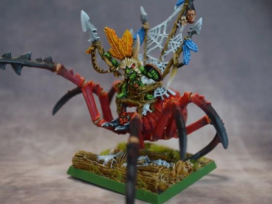 Forest Goblin King in Huntsmen Spider / Rey Goblin Silvano en Araña Monstruosa