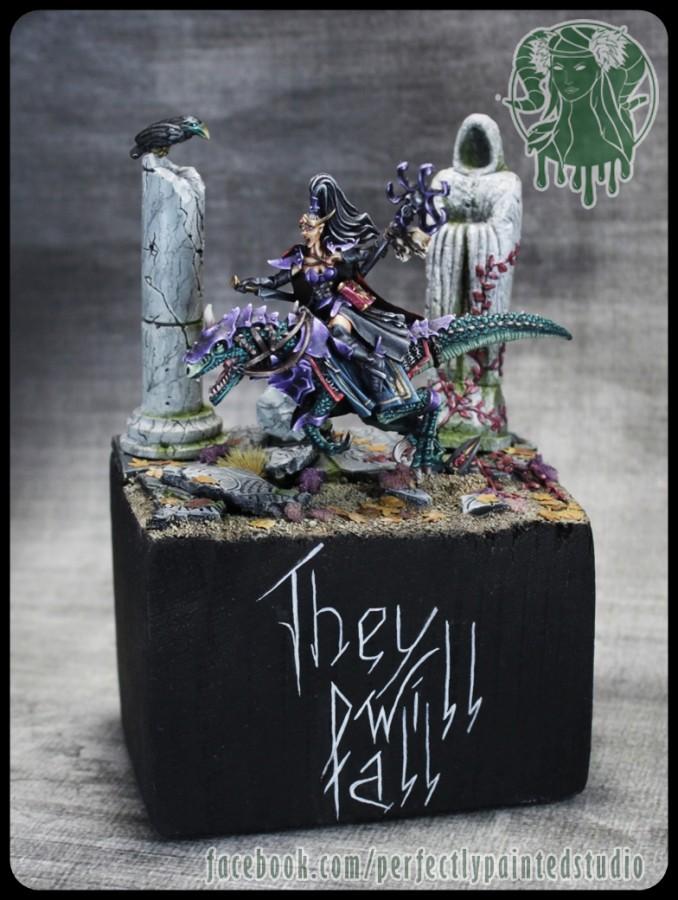 Dark Elves Oracle on Raptor