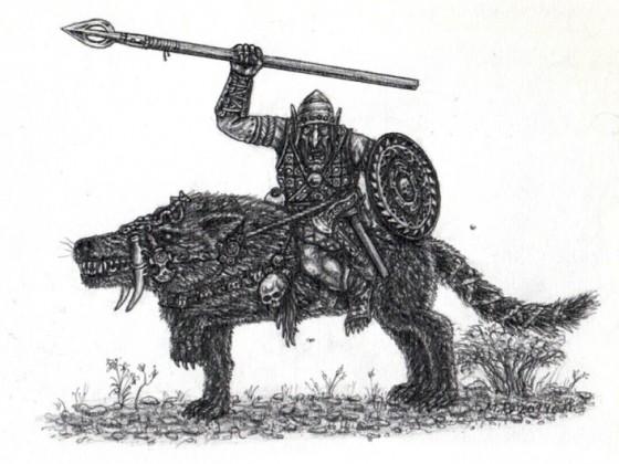 Kundrocerian Hobgoblin Wolf Rider
