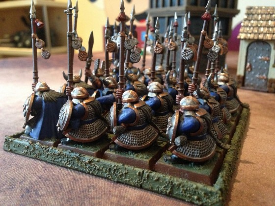 Clan Warriors with Spears and Shields