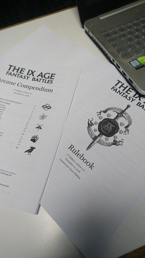 First 2.0 printed slim Rulebook!!!