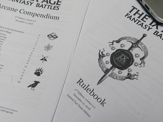 First 2.0 printed slim Rulebook!!!