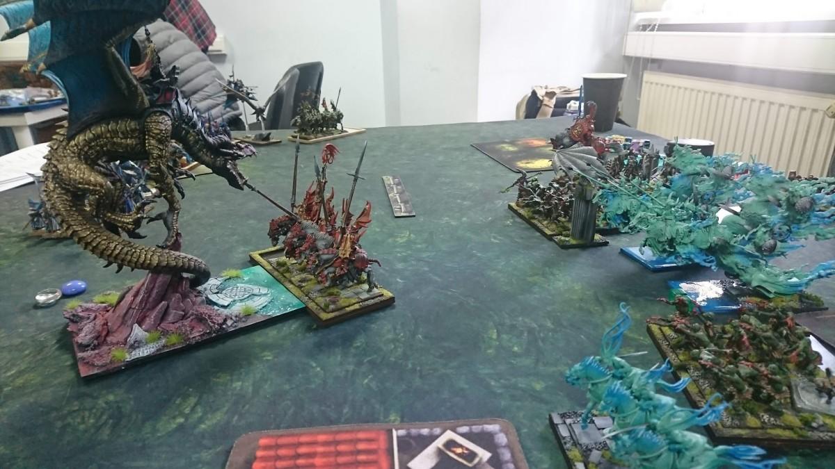 Dragon vs bloodknights