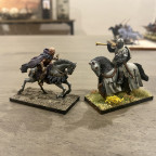 knight is 28mm, (elf will be made bigger by default) Caballero Miniatures