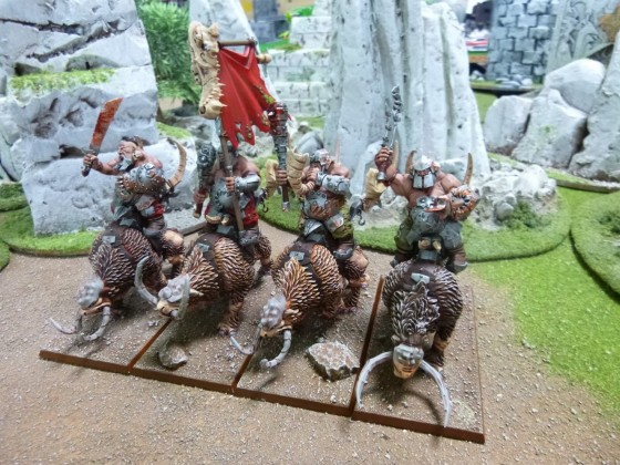 """Unit of Four Mountain Raiders with Full Command Group according to Cédric """"Greengoffik"""""""