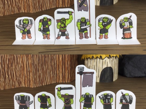 O&G Compatible Orc Headbasher Paper Miniatures