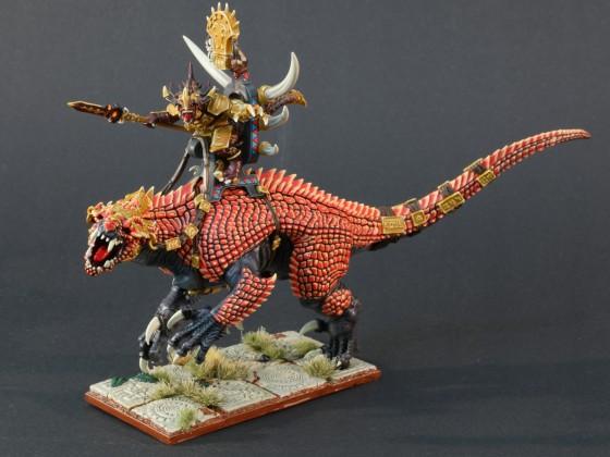 Saurian Warlord on Carnosaur (Kroq-Gar)