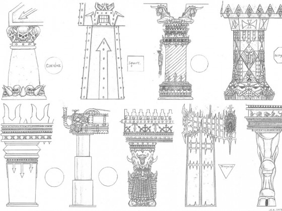 Infernal Dwarf Architecture: Columns I