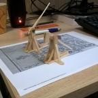 WIP popsickle stick trebuchets