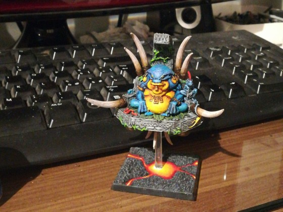 "Cuatl lord (not finished, im trying to do a ""free hand banner"" if i will have success ill repost)"