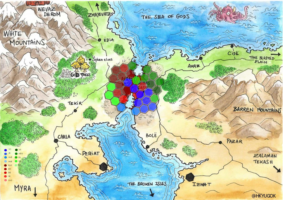 Avras Map with Disctricts