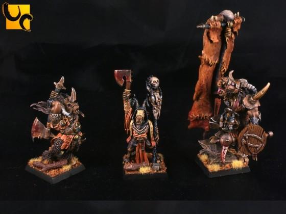 Beast Warlord, Blood Rite Mystic, Wildhorn Chieftain