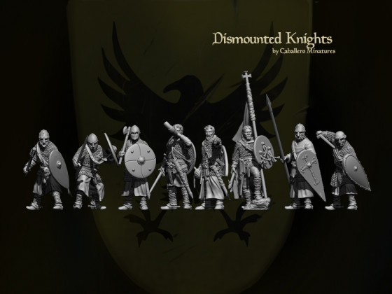 Dismounted Knights by Caballero Miniatures