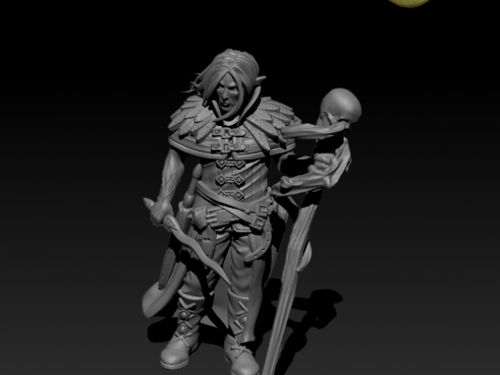 Warlock Outcast by Caballero Miniatures