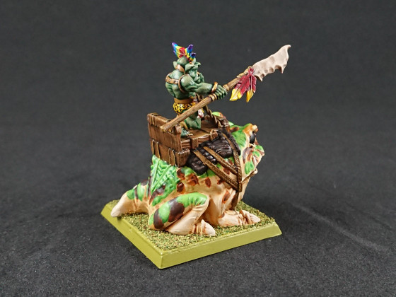 "Shieldwolf Miniatures - Goblin Chief on ""Cave Gnasher"""
